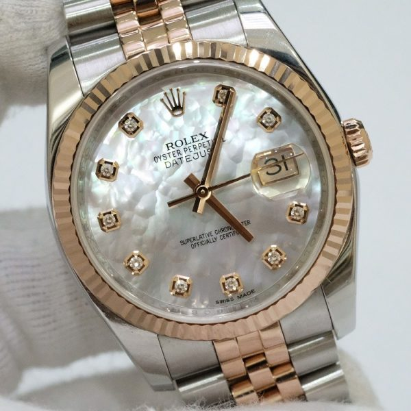 Rolex Datejust 116231 Mother Of Pearl Dial Thép 904L & Yellow Gold
