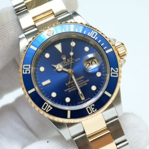 Rolex Submariner 16613 Blue Dial Yellow Gold & Steel