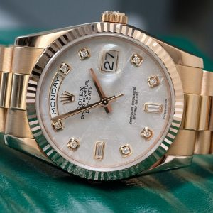 Rolex Day-Date 118205F Meteorite Dial Yellow Gold 18k