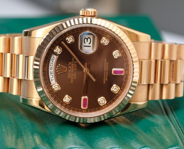 Rolex Day-Date 118235 Chocola Dial Everose Gold size 36mm