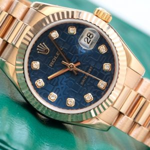 Rolex Lady-Datejust 178275 Blue Dial Yellow Gold 18k