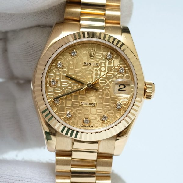 Rolex Lady-Datejust 178278 Jubilee Dial Yellow Gold Size 31mm