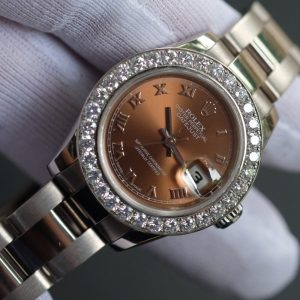 Rolex Lady-Datejust 179179 Chocolate Dial White Gold