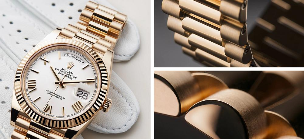 Rolex cấp chứng nhận độc quyền cho vật liệu vàng của họ