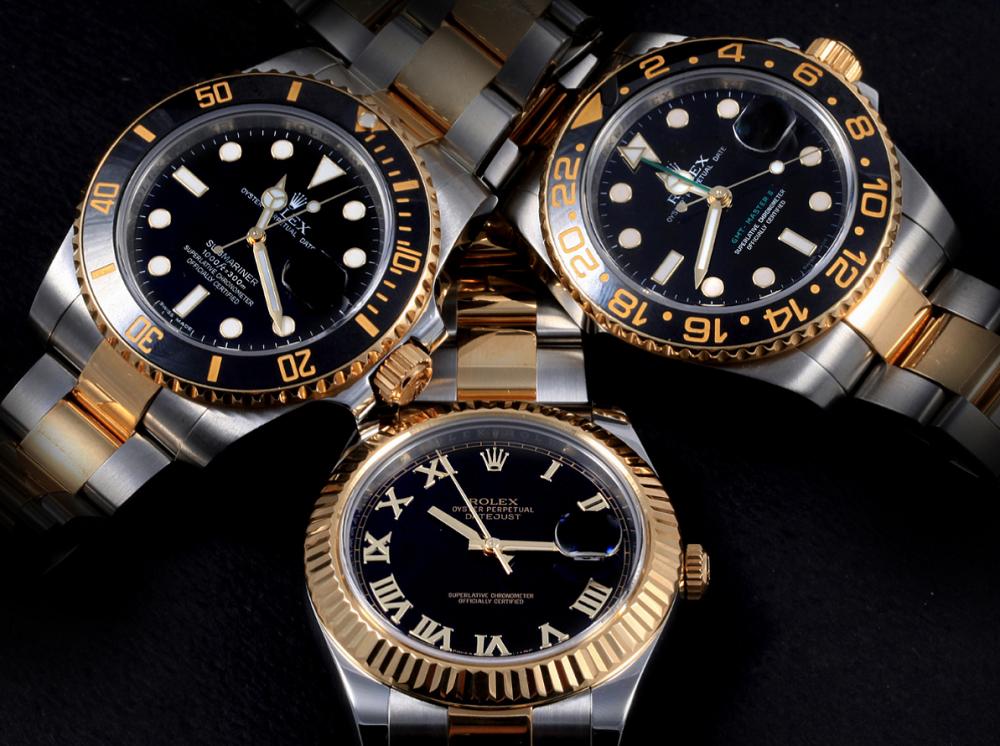 Rolex Rolesor là sự kết hợp giữa vàng và thép 904L