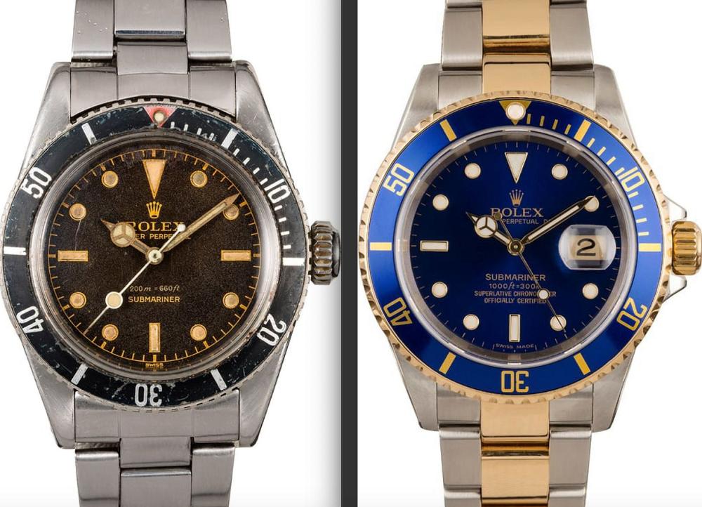 Rolex Submariner 6538 vs 16613