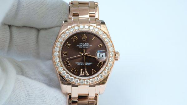 Đồng hồ nữ Rolex Date Just 81315 mặt nâu chocolate size 34mm