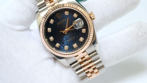 Đồng hồ Rolex Date Just 116231 mặt vi tính xanh size 36mm