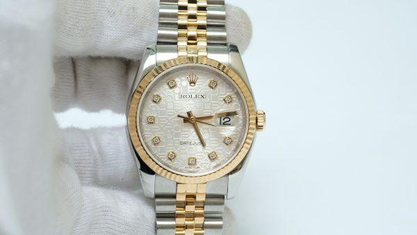Đồng hồ Rolex Date Just 116233 mặt vi tính trắng size 36mm