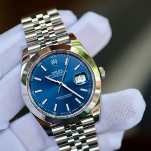 Đồng hồ Rolex Date Just 126300 mặt xanh size 41mm