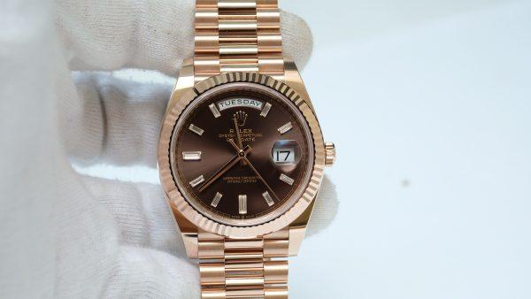 Đồng hồ Rolex Day Date 228235 mặt nâu chocolate size 40mm new