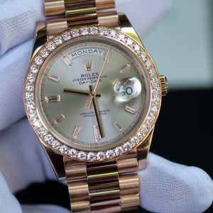 Đồng hồ Rolex Day-Date 228235 mặt tia hồng size 40mm
