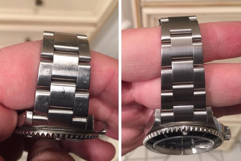 Đồng hồ mới hơn sau khi được làm sạch