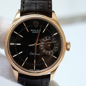 Rolex Cellini 50515 mặt đen vỏ vàng hồng size 39mm