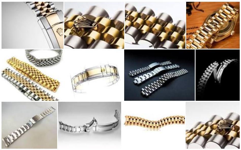 Rolex đang sử dụng những loại dây đeo nào?