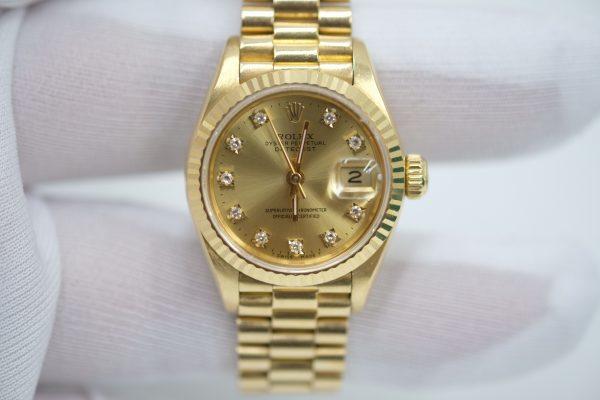 Rolex Lady-Datejust 69178 mặt tia vàng size 26mm