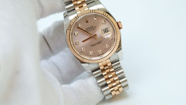 Đồng hồ Rolex Date Just 116231 mặt tia hồng size 36mm