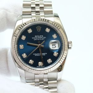 Đồng hồ Rolex Date Just 116234 mặt xanh navy size 36mm