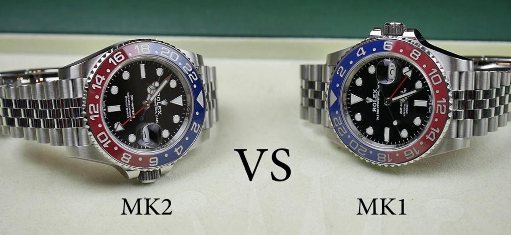 Rolex GMT-Master II 126710BLRO-MK1 và MK2